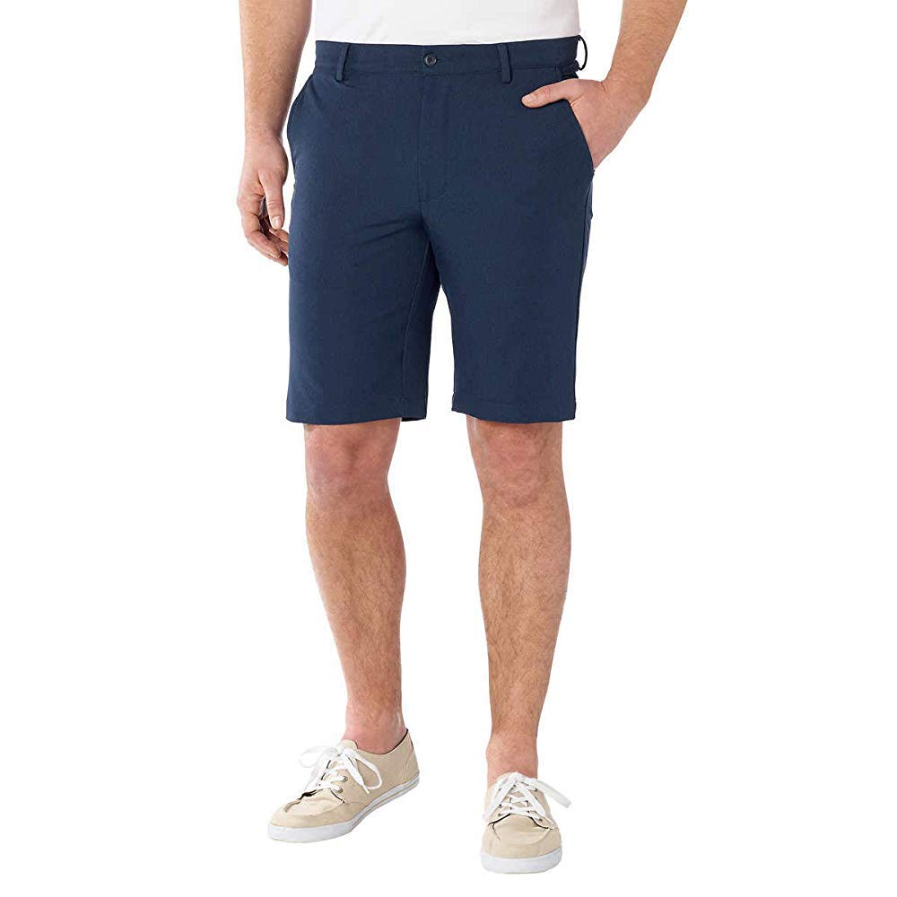 Greg Norman ML75 Luxury Microfiber Ultimate Travel Golf Shorts (Navy Heather, 30)