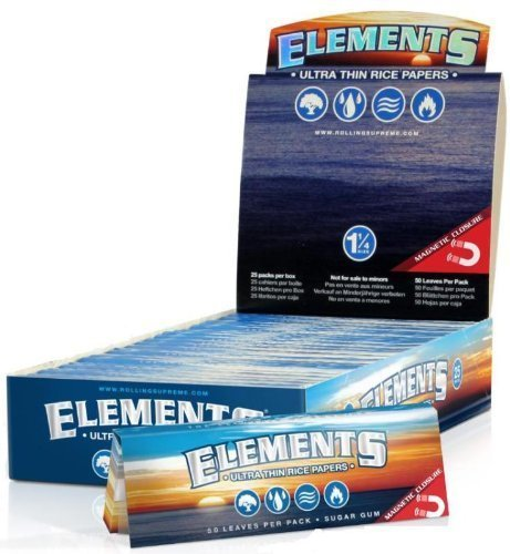 12-Packs-of-Elements-Ultra-Thin-Rice-Rolling-Papers-Beamer-Card-50-Papers-Per-Pack-600-Total-Papers-Made-to-Burn-Extra-Slow-Has-Magnet-to-Keep-Pack-Closed-Virtually-Zero-Ash-Made-to-Burn-Extra-Slow-Ev