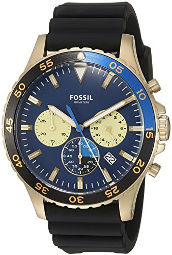 Fossil-Mens-CH3074-Crewmaster-Sport-Chronograph-Black-Silicone-Watch