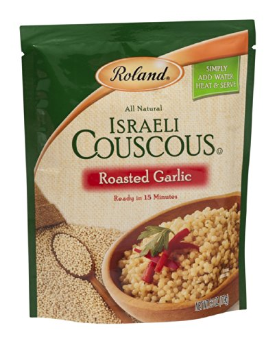 Roland Israeli Couscous Roasted Garlic 6.3 OZ (Pack of 12) by Roland