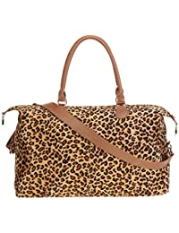 Leopard Weekender Bag Travel Duffle Bag For Women Large Cheetah Tote Shoulder Bag With Shoulder Strap