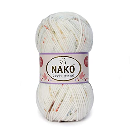 Yarn for Baby Blankets Soft Acrylic NAKO Renkli Masal 100% Anti-Pill Acrylic Yarn