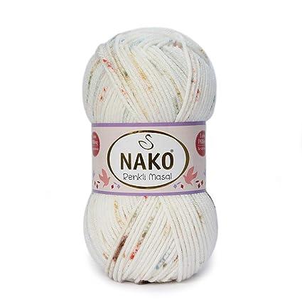 Yarn for Baby Blankets Soft Acrylic NAKO Renkli Masal 100% Anti-Pill Acrylic Yarn