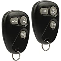 Key Fob Keyless Entry Remote Shell Case & Pad fits Cadillac Escalade / Chevy Astro Blazer Express Suburban Tahoe / GMC Jimmy Safari Yukon 1997 1998 1999 2000 2001 2002 (16245100-29), Set of 2