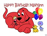 Clifford the Big Red Dog cake image frosting sheet