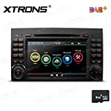 XTRONS 7 Inch HD Digital Touch Screen Dual CANbus Car Stereo Radio DVD Player GPS Screen Mirroring Function Built-in DAB+ Kudos Map for Mercedes Benz W245