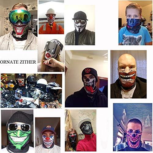 HXLF 3D Men Deadpool Face Mask Color : HR040466 Diadema Venom Spider-Man Neck Buffs Summer Ski Mascaras
