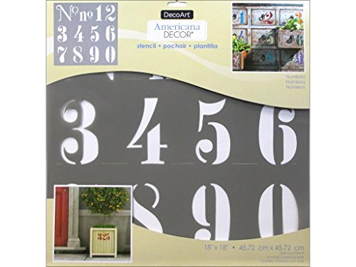 Decoart DECADS-K.409 Decor Stencil 18x18 Numbers Americana Decor Stencil 18x18 Numbers