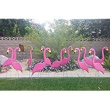 50 Large Skinnimingos Pink Flamingo Yard Ornaments