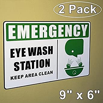 OutdoorIndoor Pack X EMERGENCY EYE WASH STATION KEEP - Window alert decals amazon