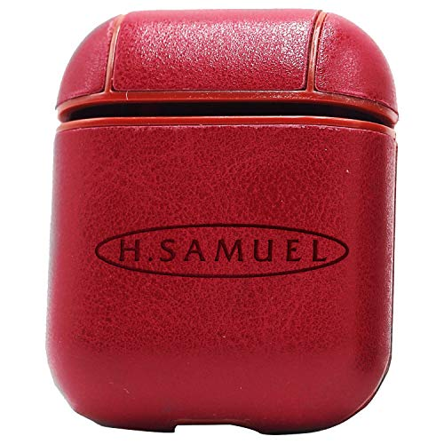 Logo H Samuel (Vintage Pink) Engraved Air Pods Protective Leather Case Cover - a New Class of Luxury to Your AirPods - Premium PU Leather and Handmade exquisitely by Master Craftsmen