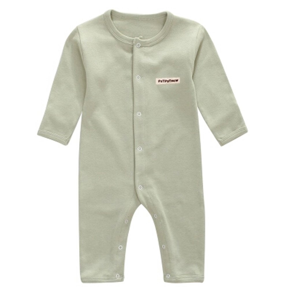 Blancho Weicher Baumwolle Infant Coverall Langarm Baby Body Baby-Kleidung, Erbsengrün KE-CLO1046184-JELLY04626