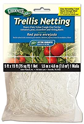 Gardeneer By Dalen Trellis Netting Heavy-Duty Nylon Tangle-Free Net 5' x 15' Size: 1Pack, Model: TP-15C, Home/Garden & Outdoor Store