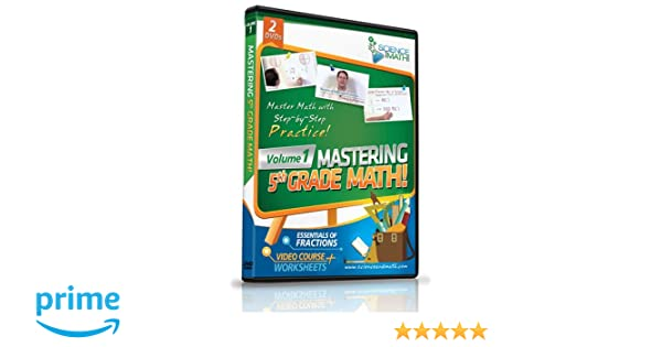 Amazon.com: Mastering 5th Grade Math - Vol 1 - Fractions - Video ...