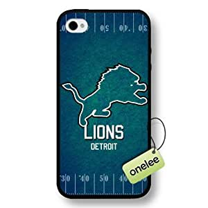 NFL Detroit Lions Team Logo Case For Ipod Touch 4 Cover Black Hard Plastic Case CovBlack
