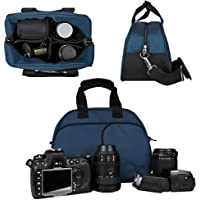 Vangoddy Mythra Blue Medium Entry Level Canon DSLR & SLR Camera Bag For: Canon EOS Rebel T3, T3i, 12.2 MP, 18 MP, Canon EOS Rebel T2i 18 MP CMOS APS-C, Canon EOS Rebel T1i 15.1 MP CMOS, Canon EOS 60D CMOS, Canon EOS 7D CMOS, Canon EOS 5D Mark II (Mark 2) Full Frame CMOS, Canon Rebel XS, Body Only, Or with Lens (Canon EF-S 18-55mm f/3.5-5.6 IS Lens, Canon EF 75-300mm f/4-5.6 III Telephoto Zoom Lens, Canon EF 85mm f1.2L II USM Lens, 18-55mm Standard Lens, EF-S 18-135mm IS UD Standard Zoom Lens) Basic Facts Review Image
