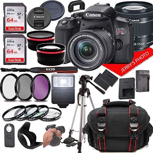 Canon EOS Insurgent T8i DSLR Digital camera w/Canon EF-S 18-55mm F/4-5.6 is STM Zoom Lens + Case + 128GB Reminiscence (28pc Bundle)