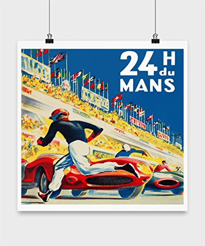 24 Hours of Le Mans - Vintage Auto Racing Poster Art Reproduction