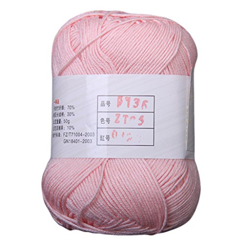 Tencel Bamboo Cotton Yarn For Baby -Light Pink