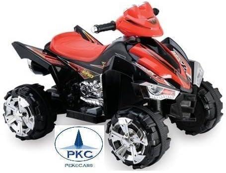 PEKECARS Quad 12V Doble Velocidad Black (Negro)