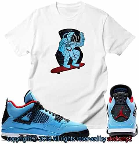 5691f013a0b620 Custom T Shirt Matching Travis Scott x Air Jordan 4 Cactus Jack JD 4-1