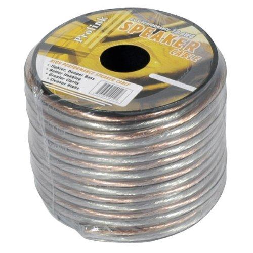 Clear Speaker Wire - Luxtronic 16-Gauge Clear Speaker Wire / 100-ft.