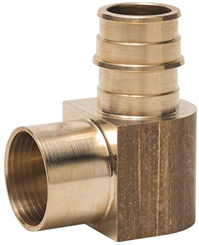 Sweat Adapter Coupling (TRIBAL MFG. F315E66 302429 Lead Free Pex-A Brass Sweat Elbow Adapter with 3/4