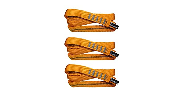 Caving Tendon Nylon Sling Runner for Hard 3 Pack Bundle Rock Climbing Loop Sport 60 or 120 cm Trad Climbing Polyamid Sewn Sling - 22kN // 4945 lb UIAA//CE Certified Slings Runners