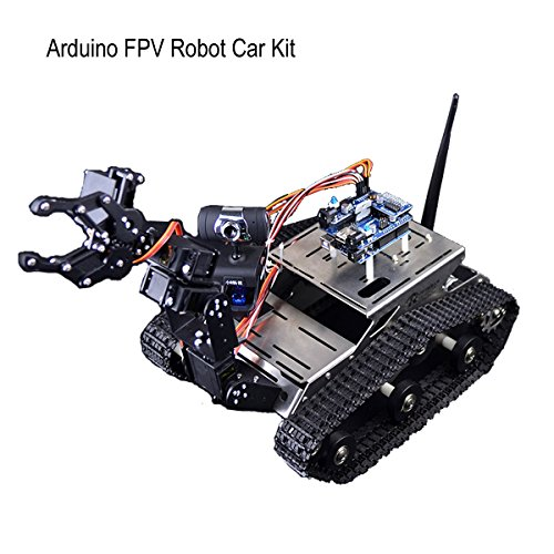 Makerfocus arduino fpv robot car kit wifi utility