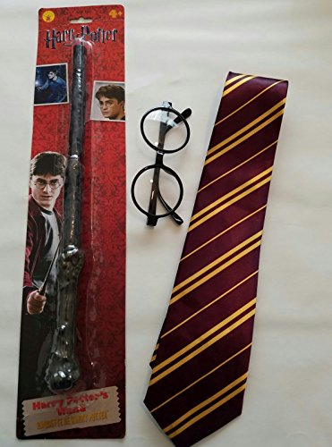 Harry Potter Costume Accessory Bundle with Necktie, Glasses and (Authentic Harry Potter Costume Accessories)