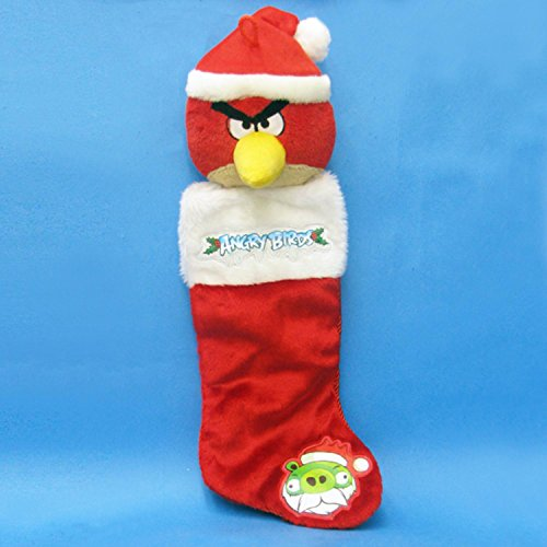 Kurt Adler Angry Birds Plush Head Stocking