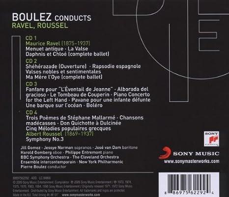 Pierre Boulez Editionravel Pierre Boulez Amazones Música
