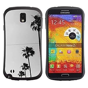 """Hypernova Slim Fit Dual Barniz Protector Caso Case Funda Para Samsung Note 3 [Los árboles Fila Sky View Road la calle""""]"""