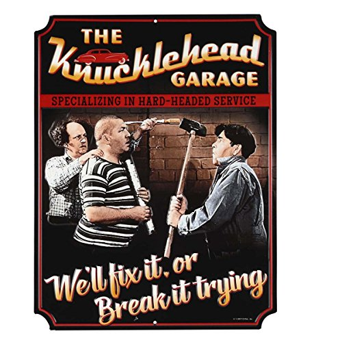 Three Stooges We'll Fix It Embossed Metal (Three Stooges Metal)