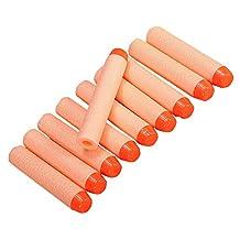 SODIAL(R) 50pcs 7.2cm Refill Foam Bullet Darts for Nerf N-Strike Elite Mega Centurion Children's Toy, Orange