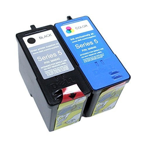 Genuine Dell Series 5 M4640 M4646 Ink cartridge 2 Pack in Bulk Packing for Dell 922 924 942 944 946 962 964 Printers