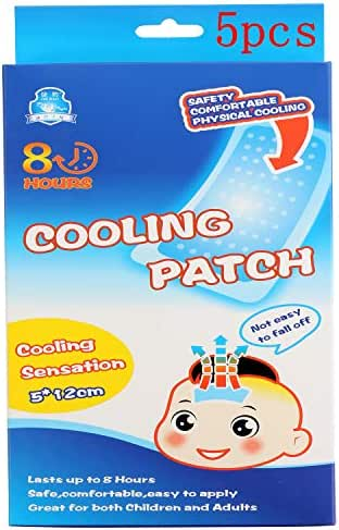 Docalon Cooling Patch, Fever Headache Forehead Cooling Sticker, Headache Patches, Forehead Instant Cooling Relief Strip for Adult/Kids –Pack of 5