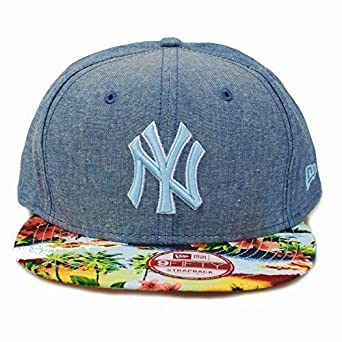 99351033e91 New Era 9fifty NY New York Yankees Island Peak Floral Summer Strapback Hat  Cap  Amazon.co.uk  Clothing