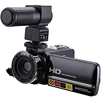 """KINGEAR HDV-301M 24MP HD 1080P 3.0"""" LCD Screen Digital Video Camcorder With Microphone"""