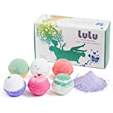 Bath Bombs with Rings in Them LULU Bath Bombs Gift Set with Mineral Bubble Bath Powder - 6 Large Tennis Ball Size