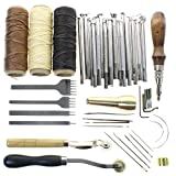 BIGTEDDY - Leathercraft Basic Accessories Tools Kit for Hand Sewing Stitching Wheels and Stamping Set