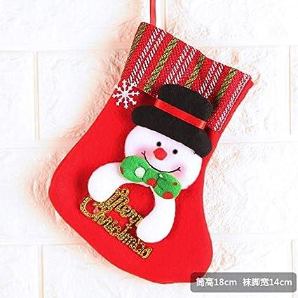 Top Shishang 1pcs Personalizados Calcetines Hechos a Mano de Navidad 3D Santa Claus/pingüino /
