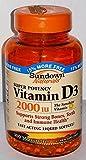 Sundown Naturals Super Potency Vitamin D3, 2000 IU, Value Size, 350 Softgels