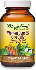 MegaFood, Women Over 55 One Daily, Supports Optimal Health and Wellbeing, Multivitamin and Mineral Dietary Supplement, Vegetarian, 120 Tablets