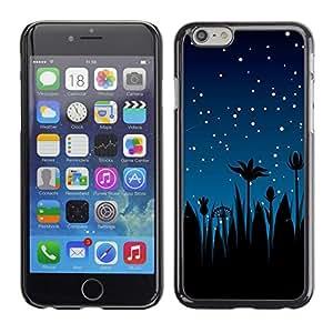 TECHCASE**Cubierta de la caja de protección la piel dura para el ** Apple iPhone 6 Plus 5.5 ** Stars Night Sky Blue Stars Shooting Palm Trees