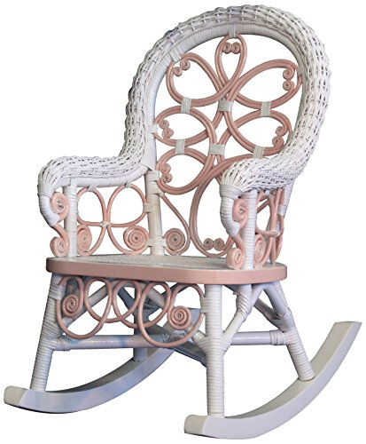 Spice Islands Victorian Child's Rocker, Pink/White