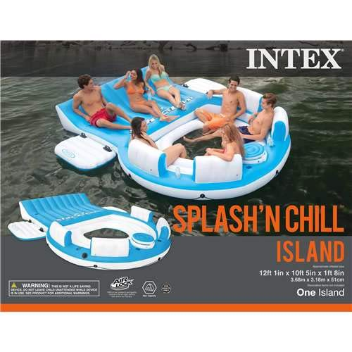 Intex Splash 'N Chill, Inflatable Relaxation Island, - Floating Oasis Cooler
