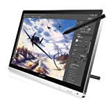Huion GT220 21.5 Inches Pen Display Tablet Monitor IPS Panel HD Resolution + Silver Articulating Foldable LCD Arm Desk Mount Stand