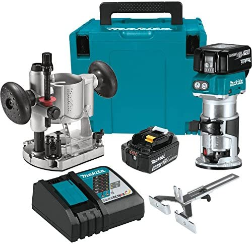 Makita XTR01T7 18V LXT Lithium-Ion Brushless Cordless Compact Router Kit