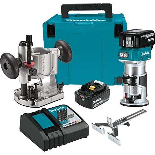 (Makita XTR01T7 18V LXT Lithium-Ion Brushless Cordless Compact Router Kit)